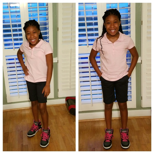 Mikayla and Daianna 1st day of school