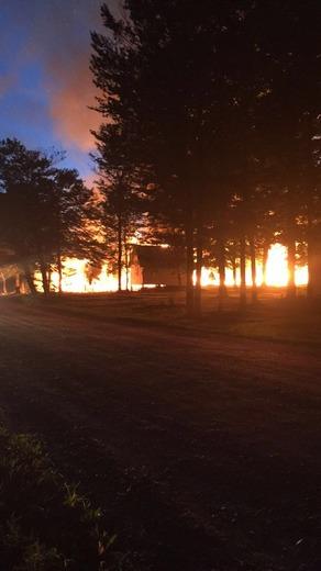 Campground fire in Washington Maine