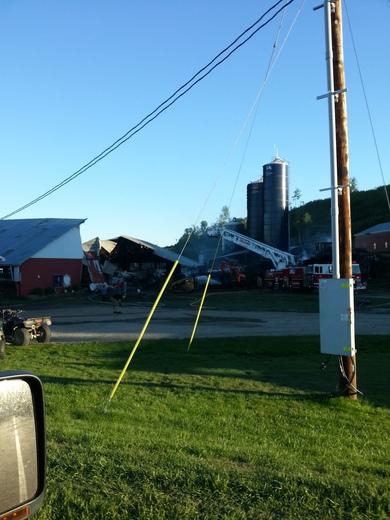 Robillard Flats Farm Fire