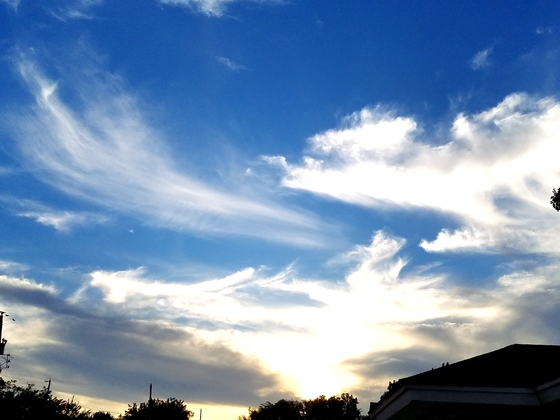 Community - Sunset tonight in South okc