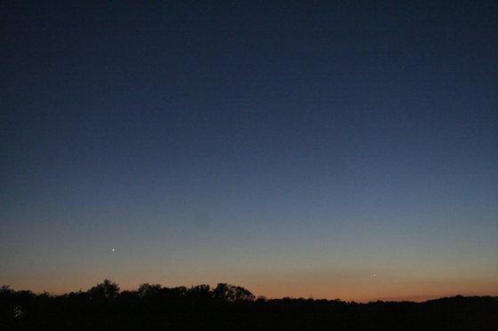 Sunset-Venus on the Left