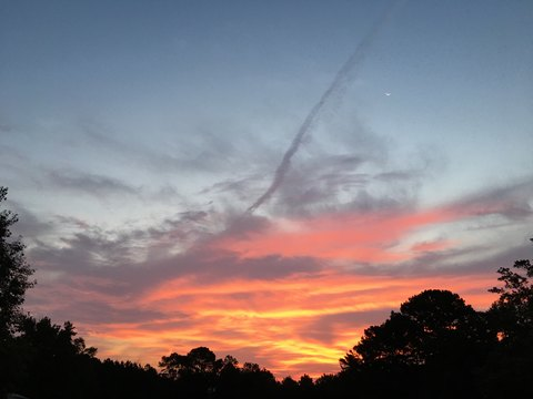 Sliver of Moon with this Morning's Sunrise