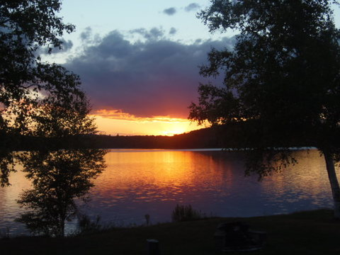 Sunset Saranac Lake