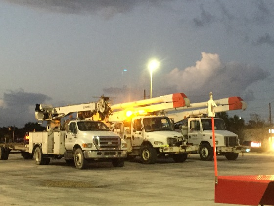 Hurricane Matthew Utility Trucks