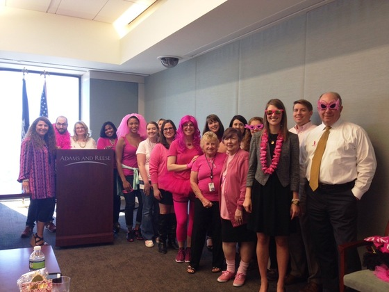 Adams and Reese Raises More Than $9,000 for Susan G. Komen New Orleans Affiliate