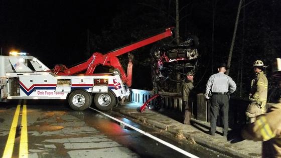 Aftermath of Glencoe vehicle crash