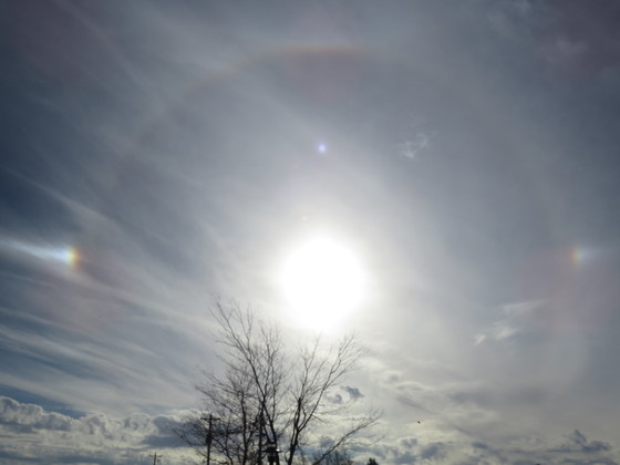 A Day of Sun Halos and Sun Dogs