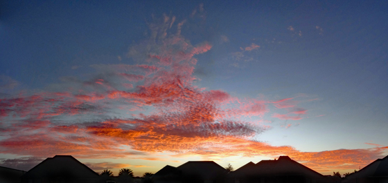 sunrise in Houma, LA 11-02-2016