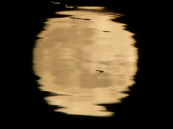 Supermoon and it's reflection