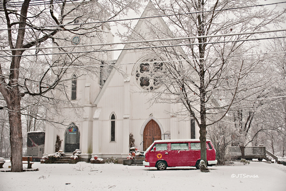 Red VW Microbus