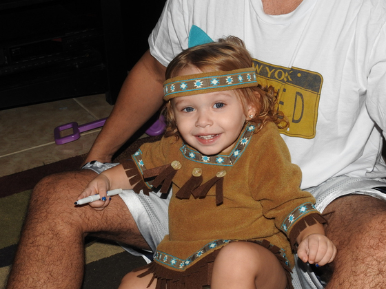 Sophia, Little Indian Princess for Thanksgiving!