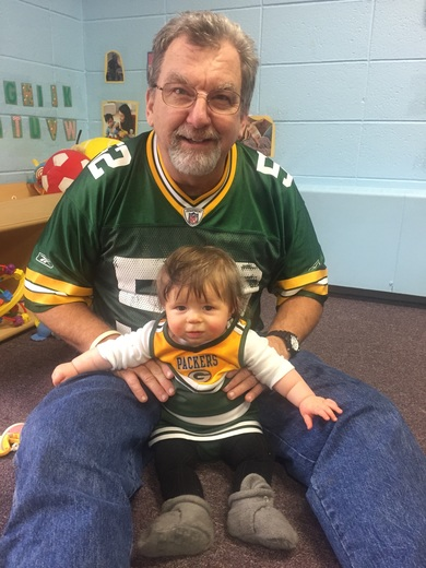 Grandpa and his favorite cheerleader