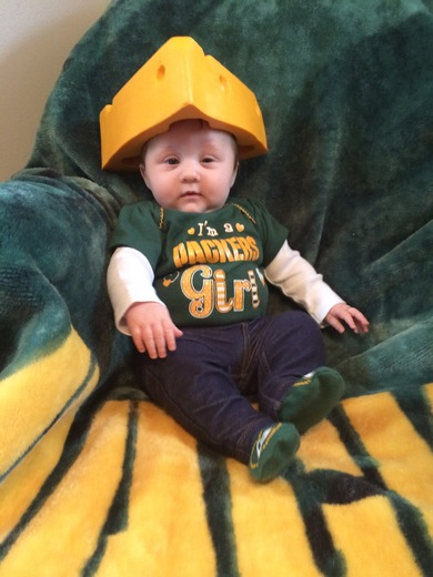 Go Packers!! Hayden's lucky Packer outfit! She wears this for every game!
