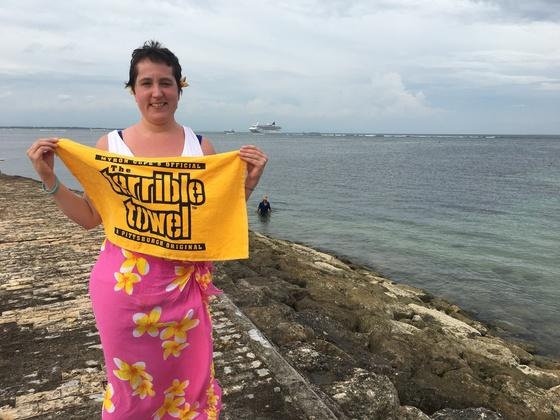 Steeler fan in Bali, indonesia