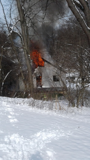 House fire Thompson Run Road