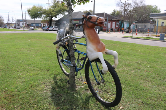 Odd bicycle on St. Claude Avenue