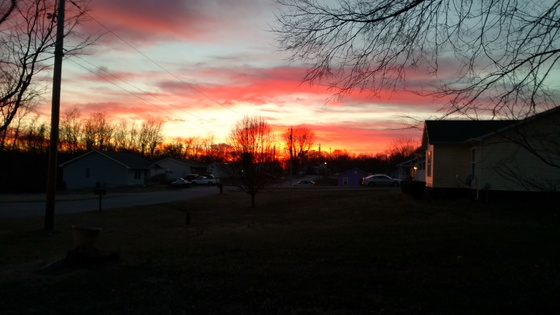 Sunset over Corydon Indiana