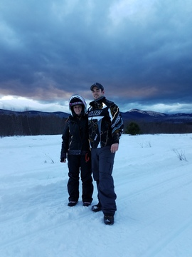 Daughter and Son-in-law Snowmobiling