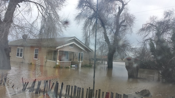 Flood on San Felipe Rd in hollister