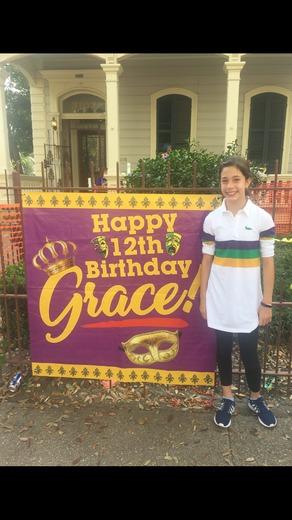 Grace Pecoraro Mardi Gras birthday