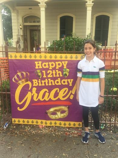 Grace Pecoraro Mardi Gras day birthday!!!