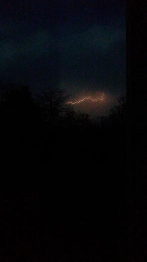 Lightning tonight