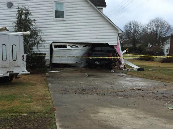 Truck through garage