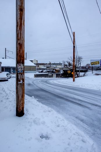 Snow around Lancaster City