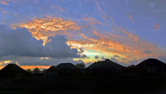 sunrise over Houma 03-24-2017