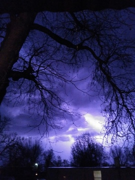 The storm from Sunday nite