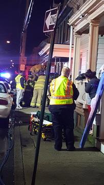 Car crashes into porch in Lebanon City