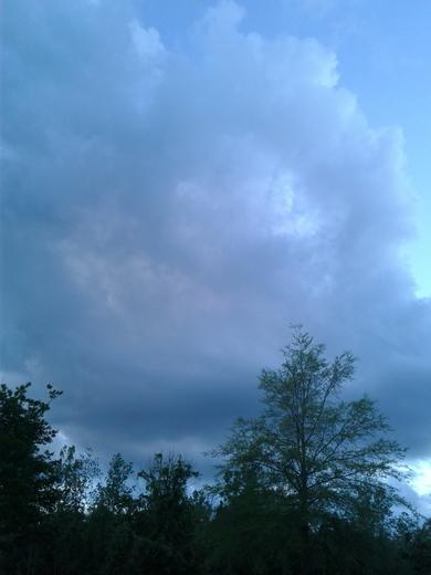 Huge dark clouds