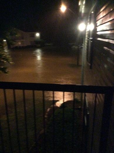 Flooding at Laurel Park in Flowood