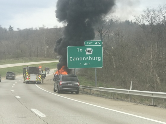 Vehicle fire on Rt 79 around 4p.m.