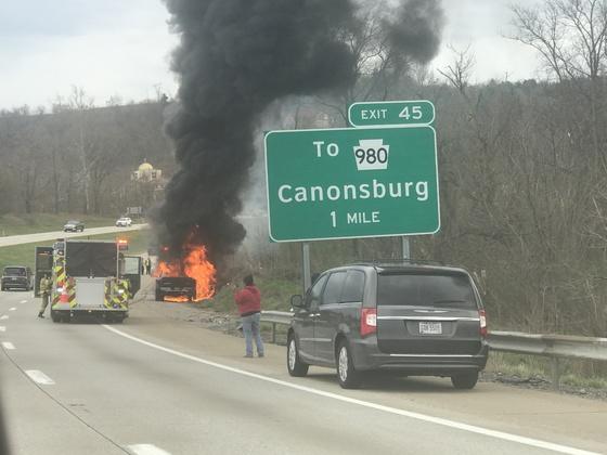 Vehicle fire on Rt 79 around 4p.m.