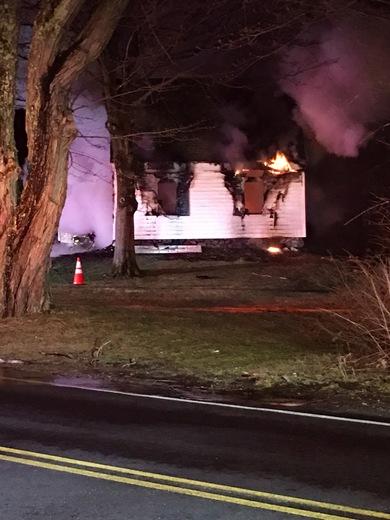 Fire on Wheeler Avenue in Salem, NH