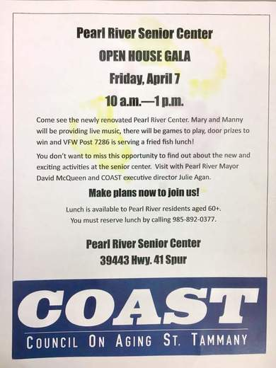 COAST - Council On Aging St. Tammany Event