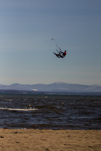 Kite Surfing At Ausable Point Beach