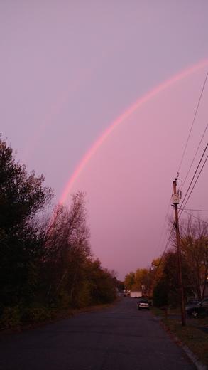 Pre sunrise rainbow