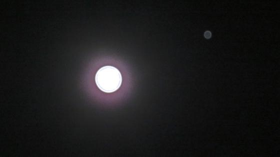 Full Moon - 04-10-17 with Jupiter