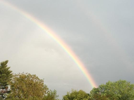 Friday evening Rainbow over Greenville