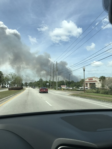 Brush fire in Orange City