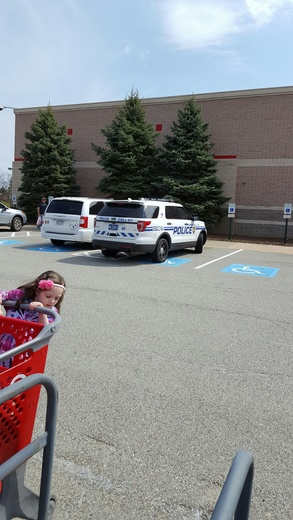 Monroeville Police Officer Parked in Handicap Spot
