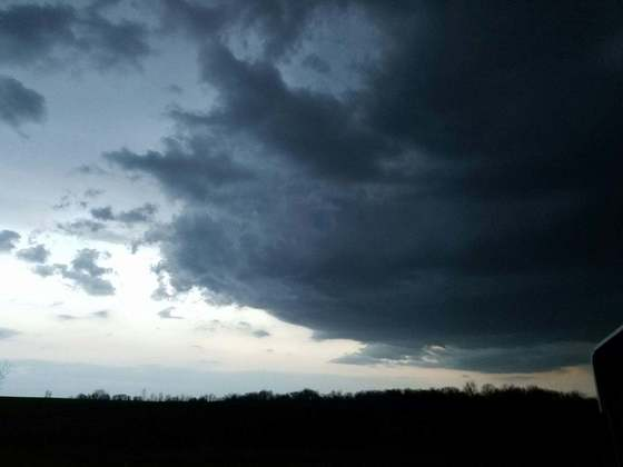 Storm clouds south and east of Knoxville