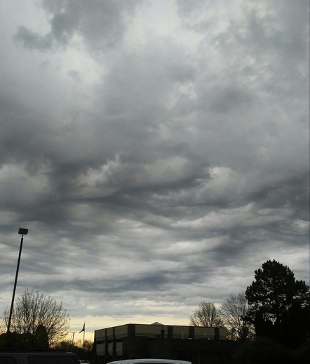 Ominous clouds rolling in