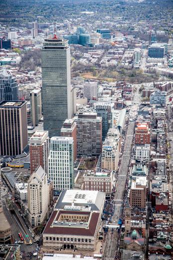 Marathon Monday over Boston