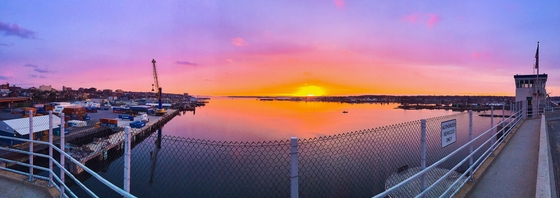 Sunrise over Casco Bay