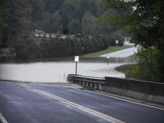 Underpass Rd., Advance, N.C. flooded