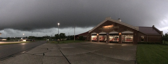 Storms at Independence Fire Station 1