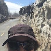 Mur de glace à Lauzon piste cyclable